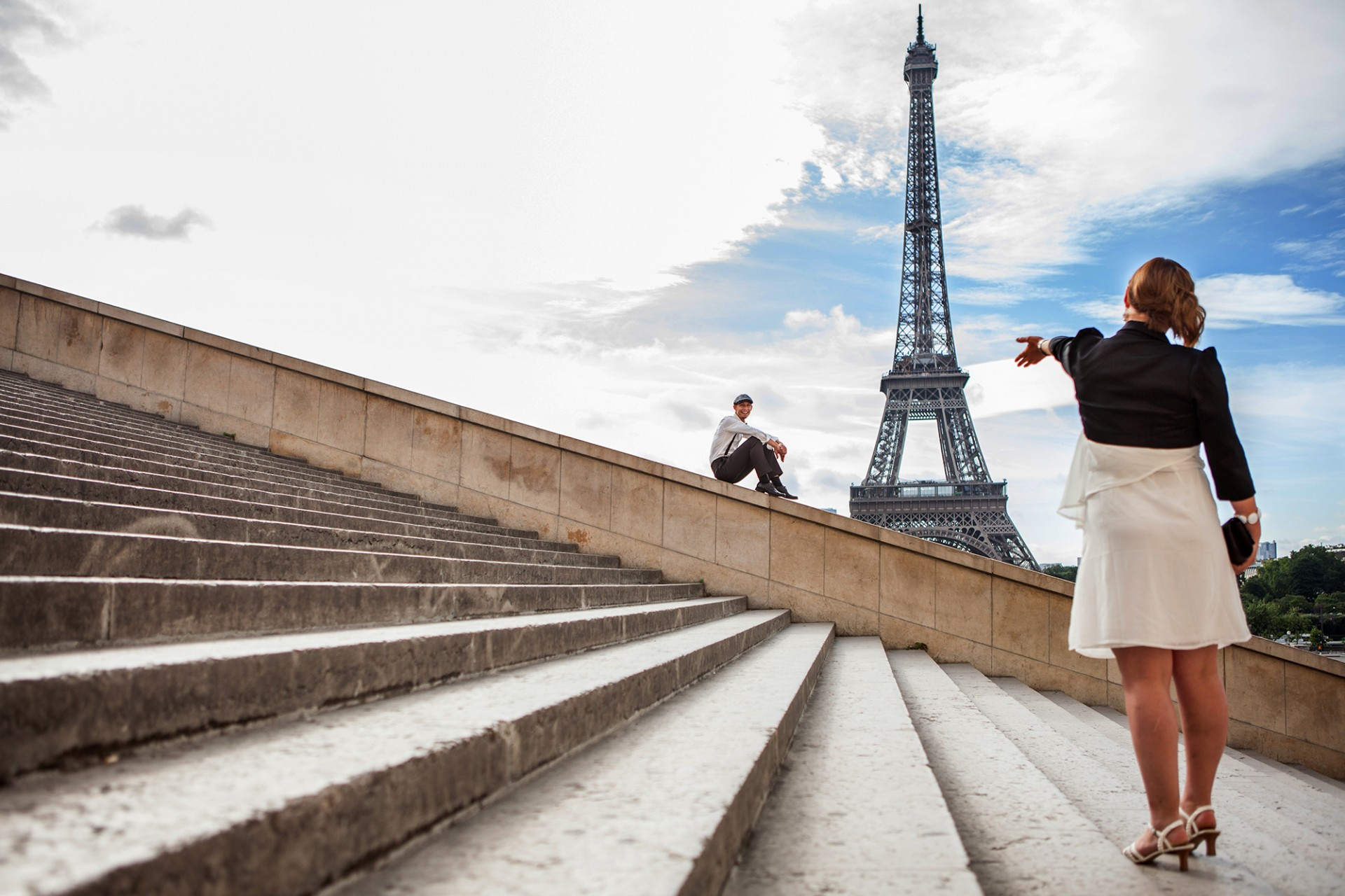 Fotografen Shooting für verliebte in Paris