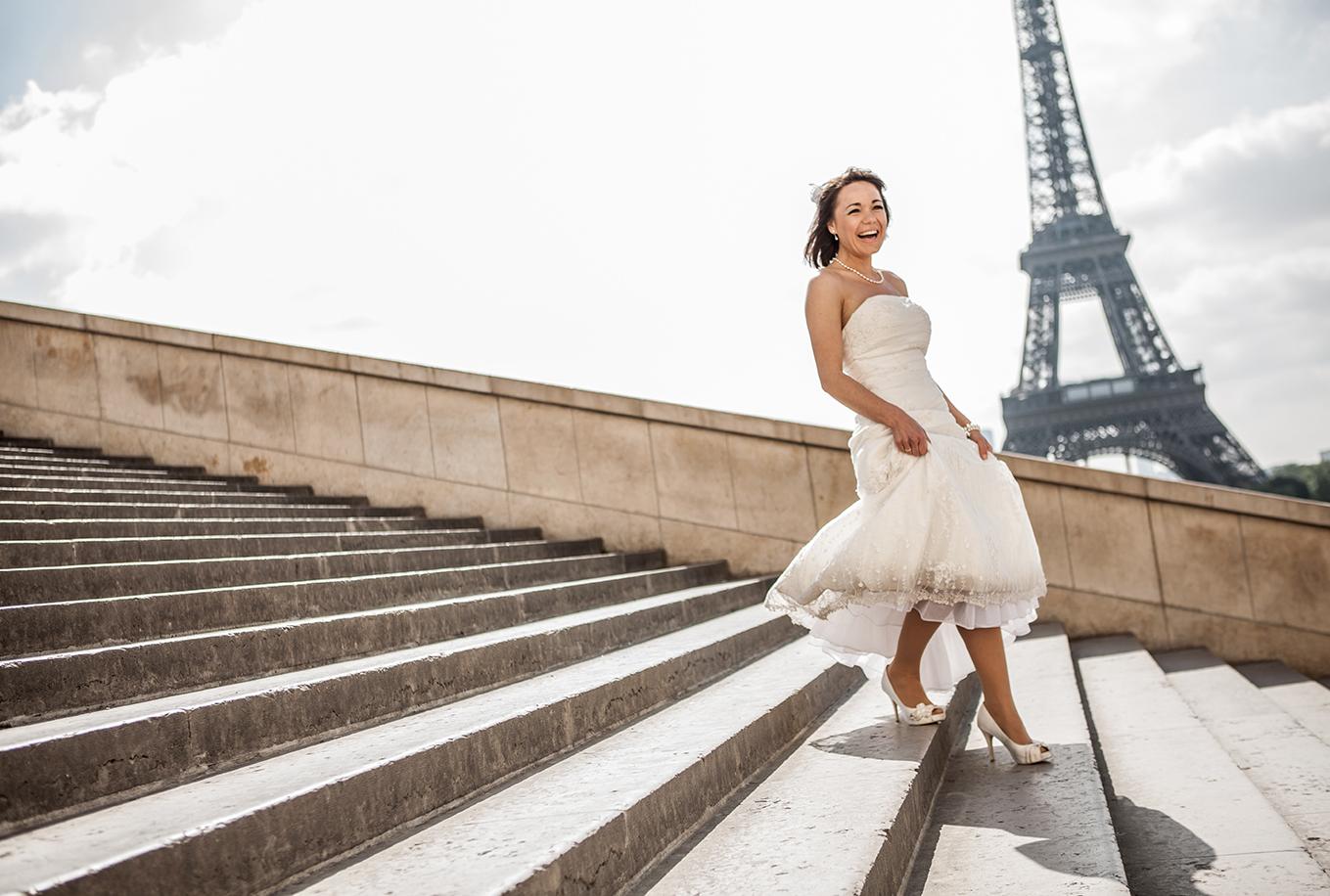 Hochzeitstag in Paris mit Fotografen