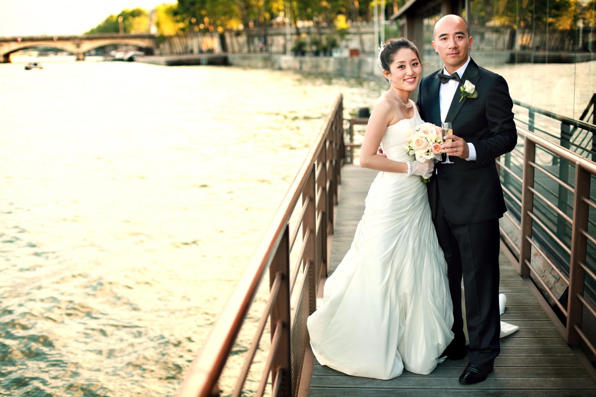 Hochzeitsfoto in Paris