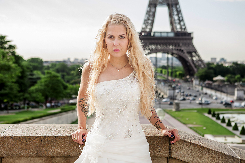 Brautmode Fotoshooting in Paris