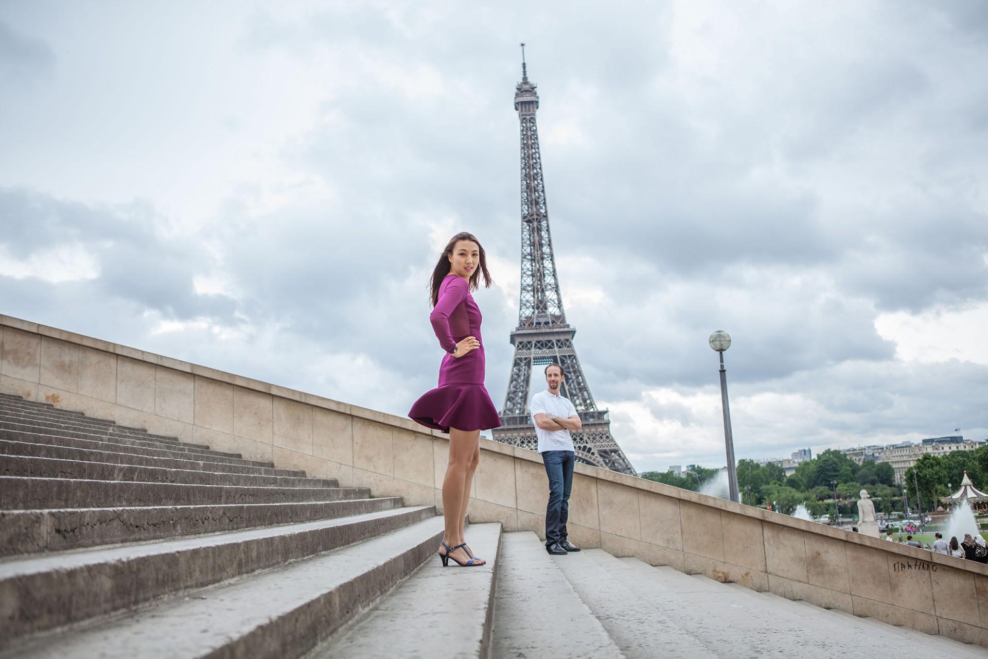 Stylisches Fotoshooting am Eiffelturm
