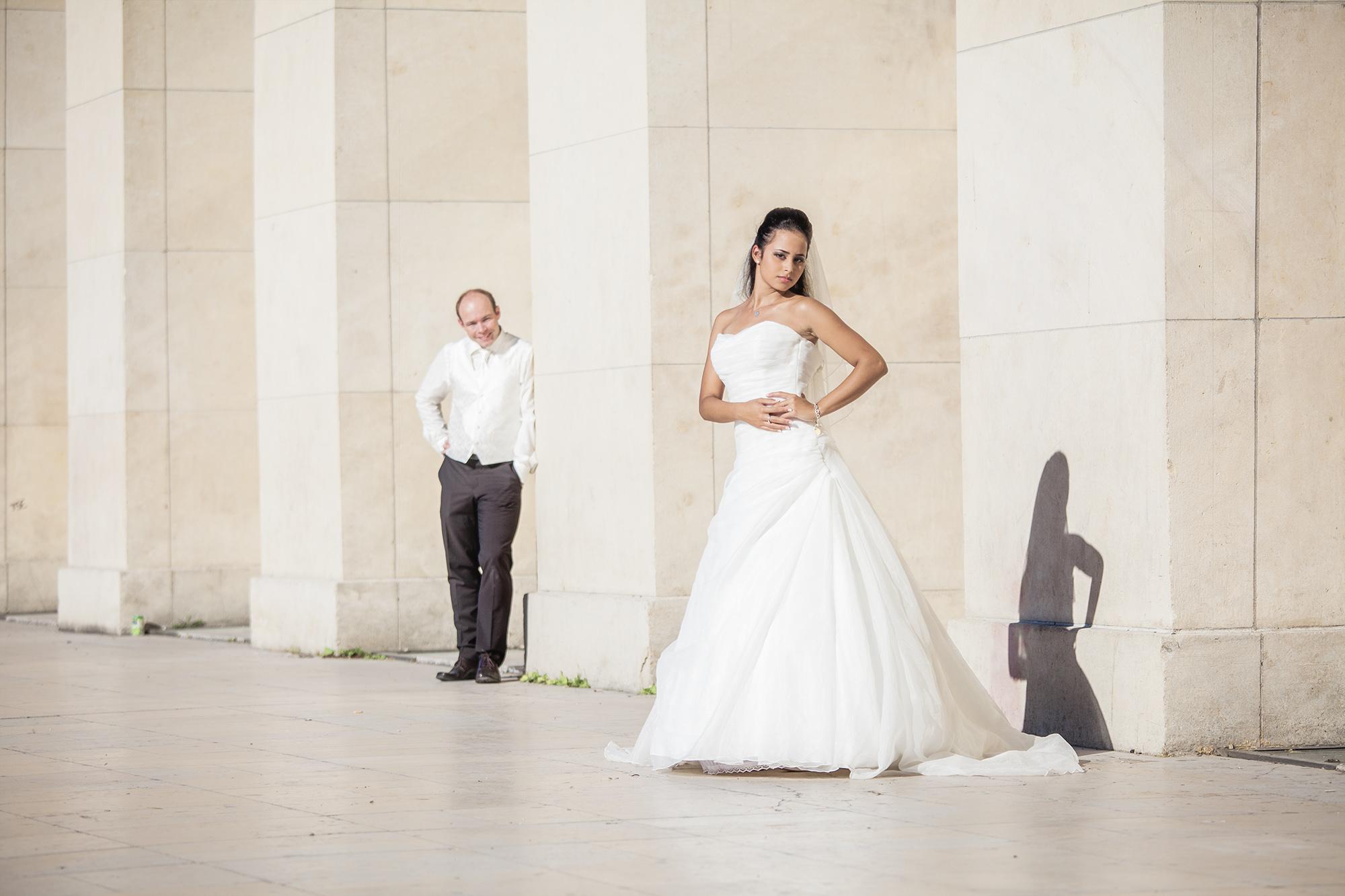 Hochzeitsfotoshooting Paris im Sommer