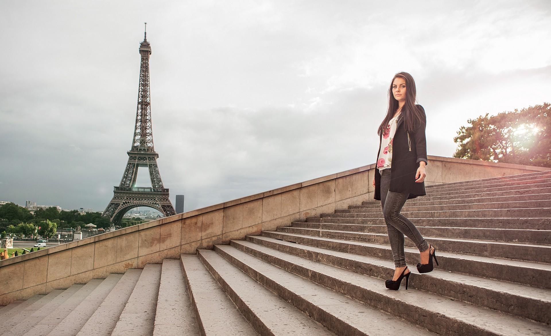 Modeshooting für junge Designer Fashionweek in Paris