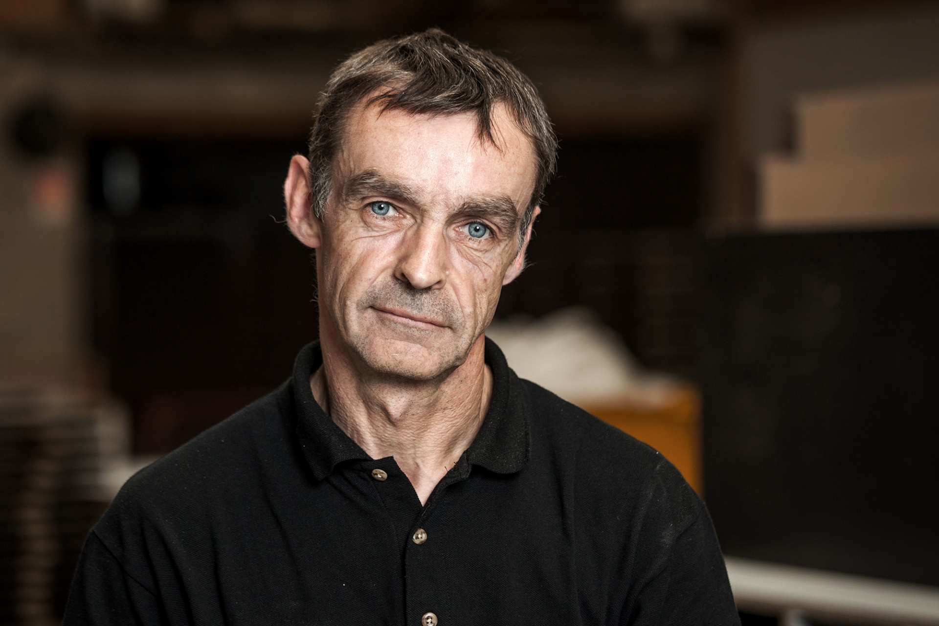 Stahlarbeiter Portrait Fotoshooting in Paris für die Firma Ideaform