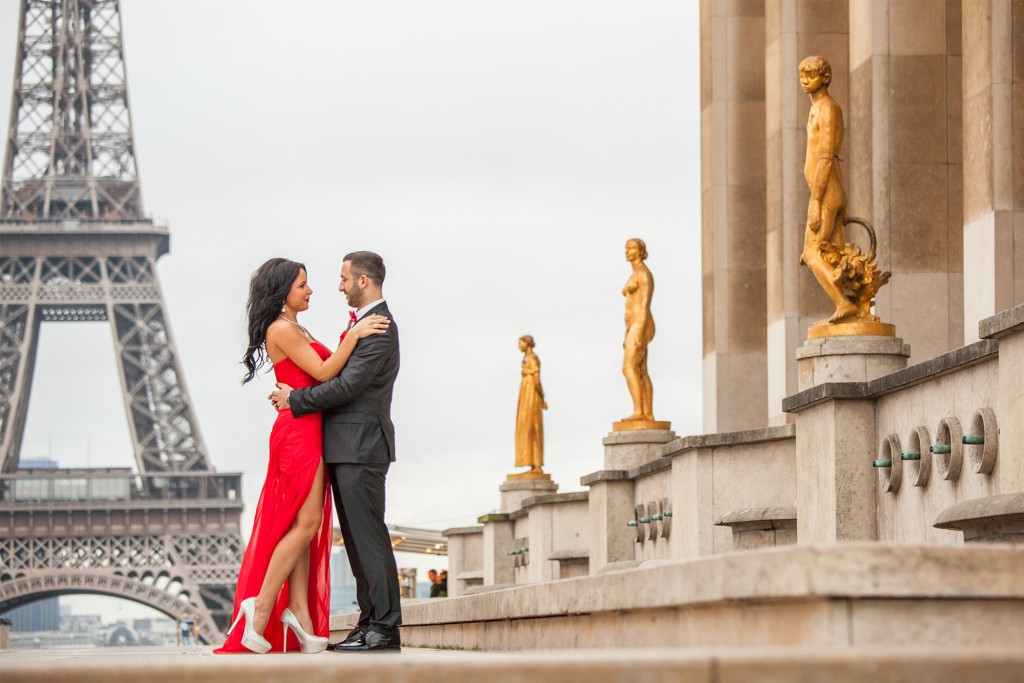 Fotograf Paris am Eiffelturm